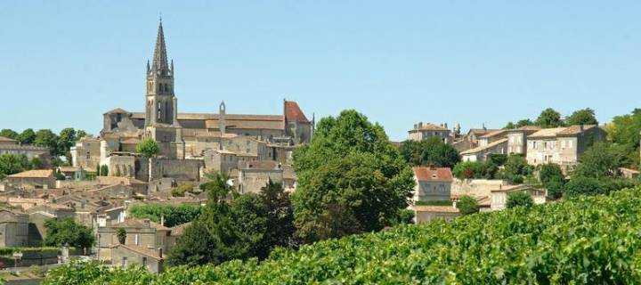 Saint Emilion town outside Bordeaux