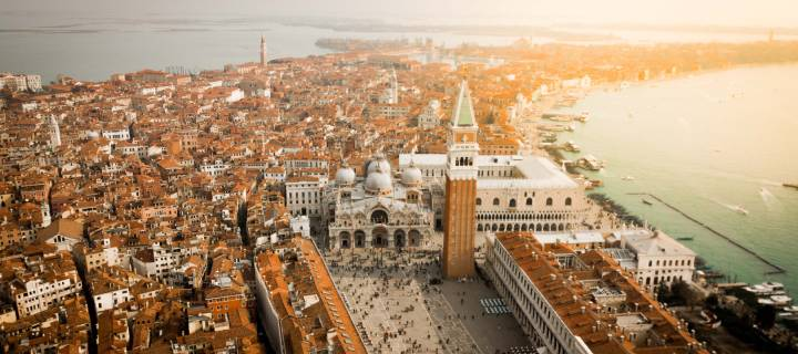Aerial view of Venice and St. Mark's Square