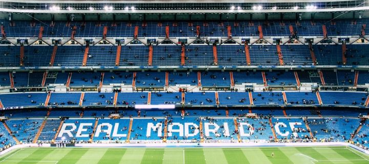 The Bernabeu Stadium in Madrid - Home of Real Madrid FC