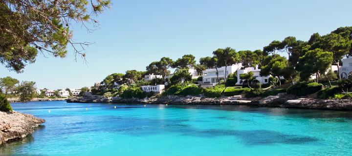 Beach in Cala d'Or in Majorca
