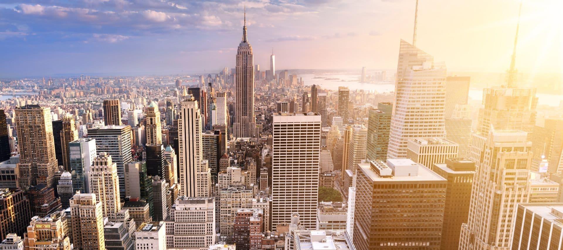 Cityscape of Manhattan, New York