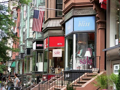 Boston Holidays - Newbury Street - Shopping