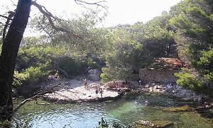 The lake on Lokrum Island, off the Coast of Dubrovnik